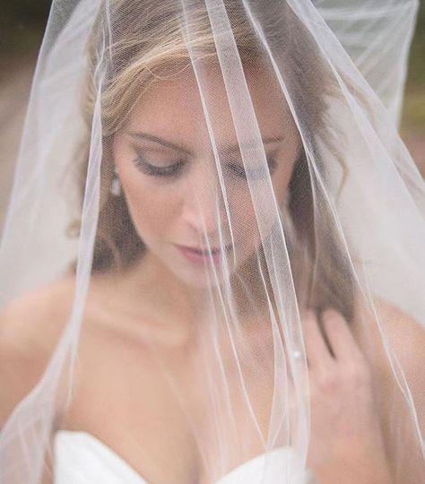 Bride underneath her veil