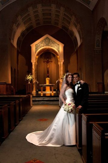 Wedding at St. Anne's Catholic Church located in Houston, Texas.