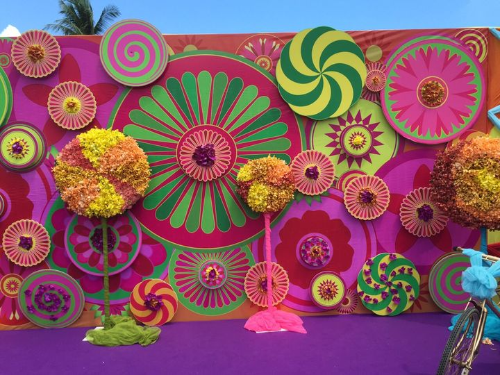 Candy pop backdrop