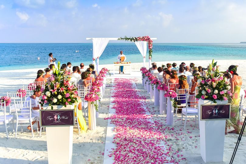 seaside wedding with rose walkway 51 1059861 157431194382410