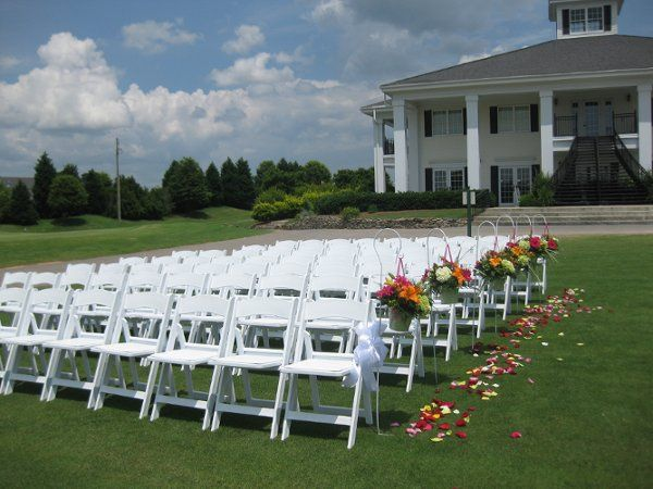 White chair arrangement