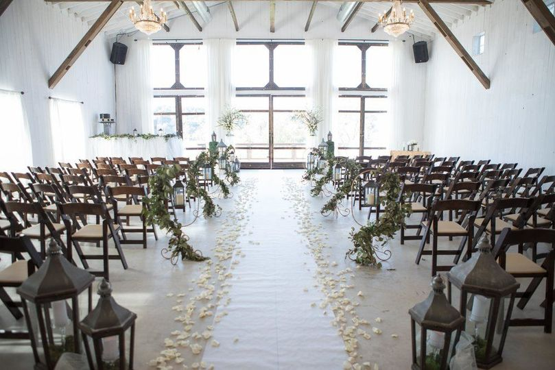 Inside wedding aisle