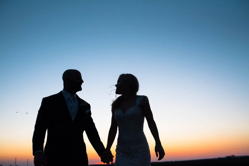 Sunset on the wedding night