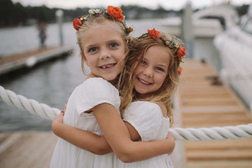 The youngest bridesmaids.