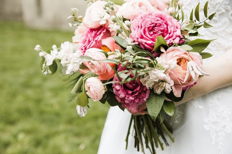 Coral & Pink Bridal Bouquet