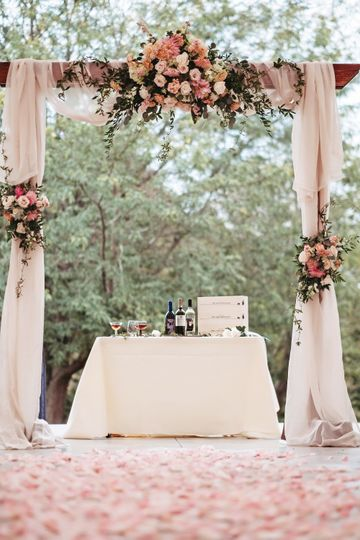 Floral Arbor Wedding Backdrop