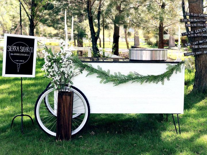 The handcrafted wooden cart