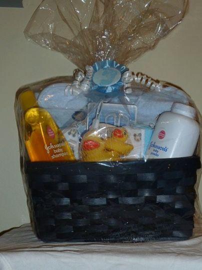 baby shower bath time basket