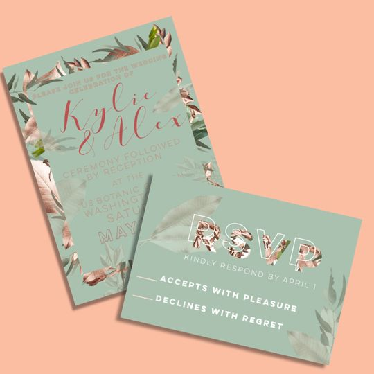 Custom wedding stationary