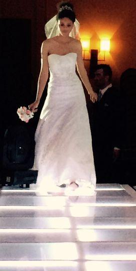 Modeling her amazing dress
