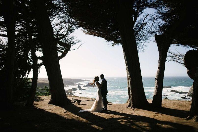 Lovers by the ocean