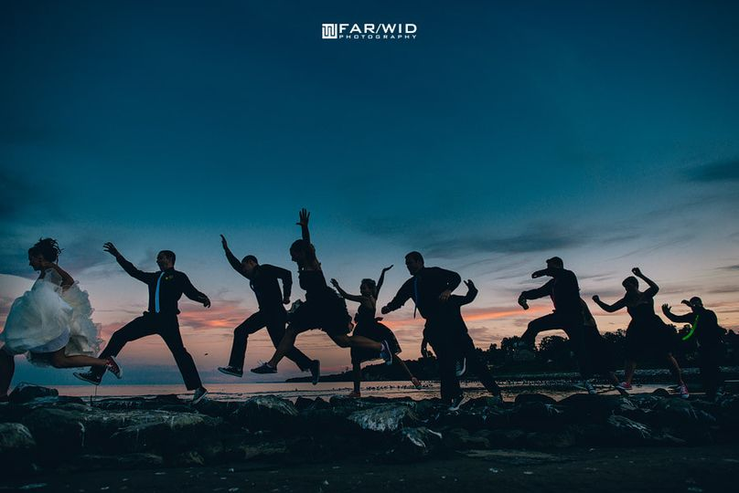 Sunset jump shot