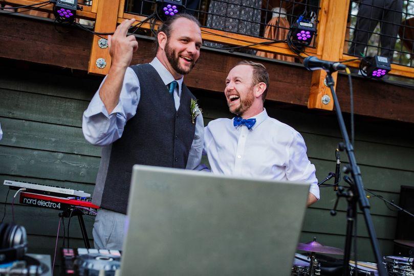 When the groom DJs his wedding