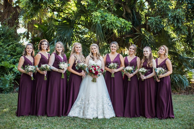 Beautified wedding party