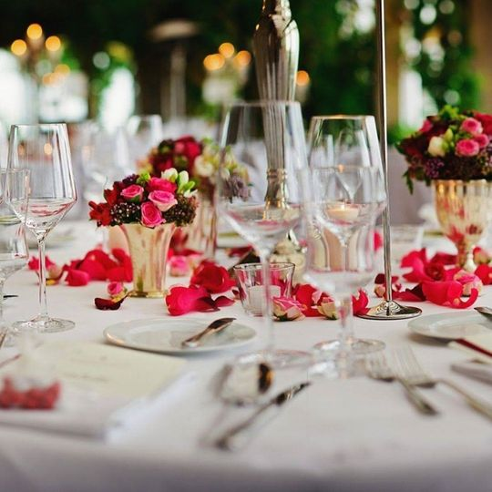 Red & Grey Themed Luncheon