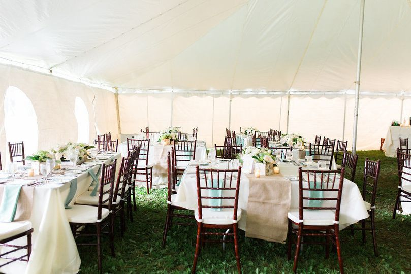 So many different ways to customize your reception space for this tented wedding