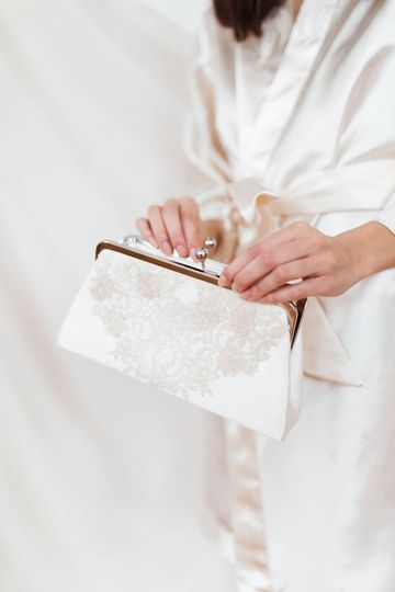 Clutch made from Mom's dress