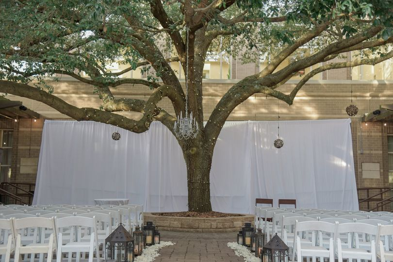 Ceremony courtyard