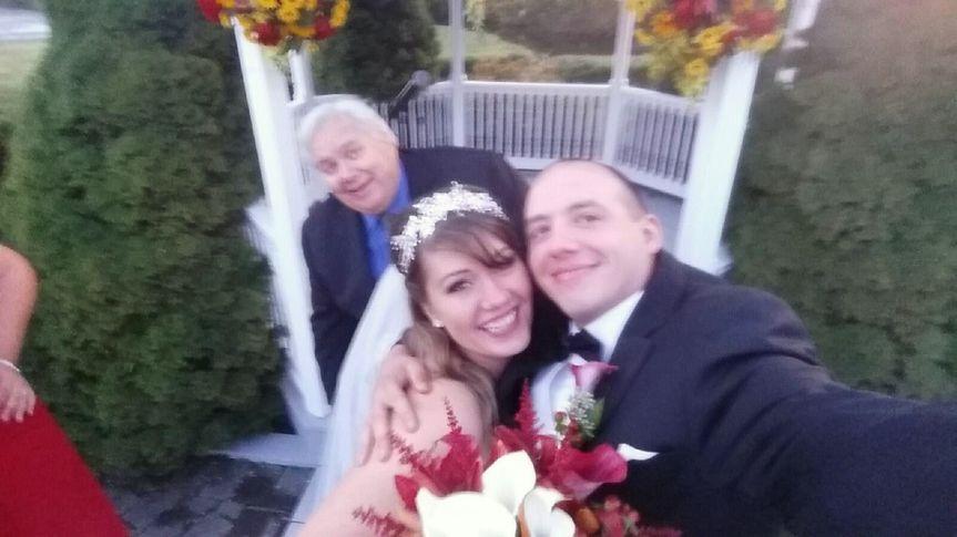 Rev. Gerry Photobombs a Ceremony Selfie