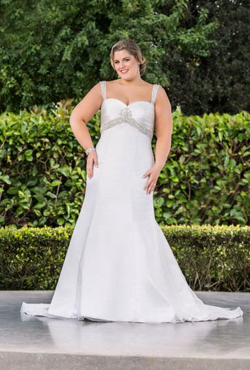 A variety of bridal gowns available