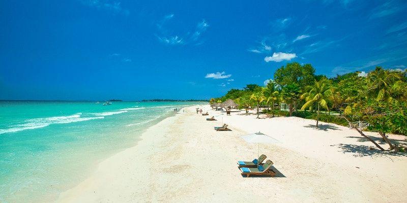 A beach, Negril, Jamaica
