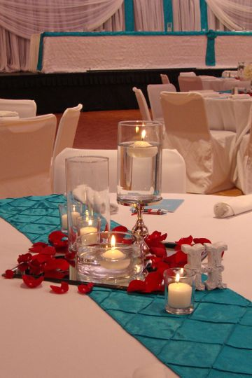 800x800 1405207437377 turquoise red wedding silver candle stand on mirro
