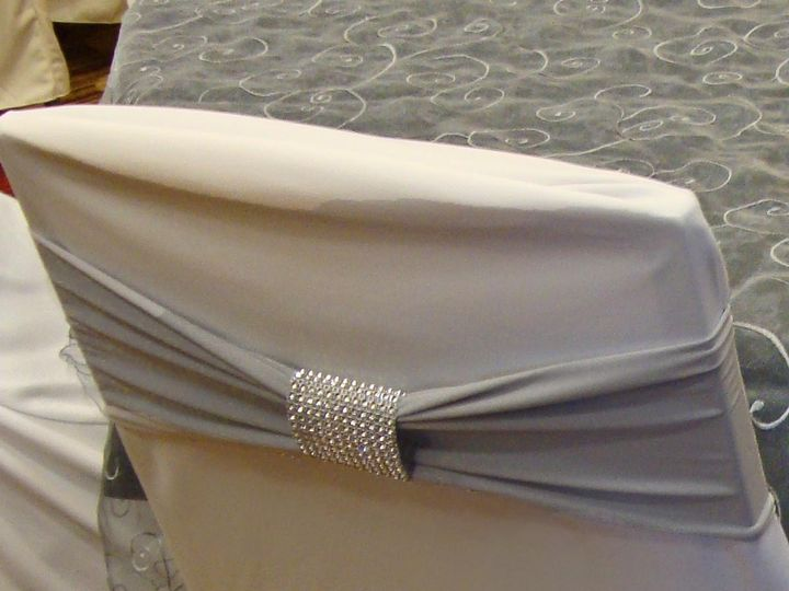 Tmx 1405207181922 Silver Band On White Standard Cover With Silver Br Mankato wedding rental