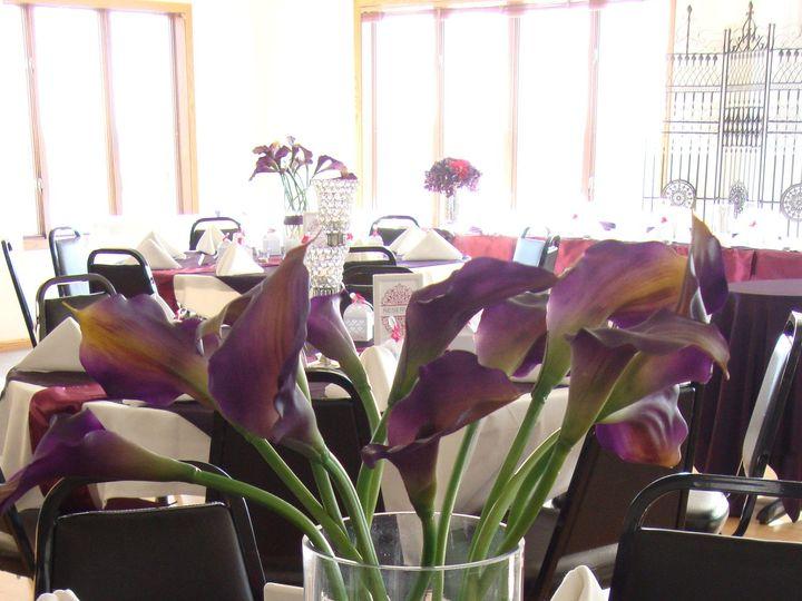 Tmx 1405207339848 Cylinder Crystal Buckle Ice Callas Purple Sangria Mankato wedding rental