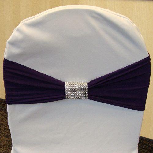 Tmx 1405207965730 Eggplant Plum Dark Purple Spandex Chair Band Silve Mankato wedding rental