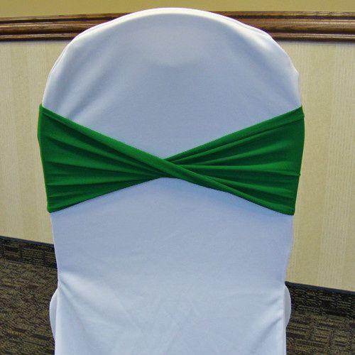 Tmx 1405207968877 Emerald Kelly Green Spandex Chair Band Twisted Whi Mankato wedding rental