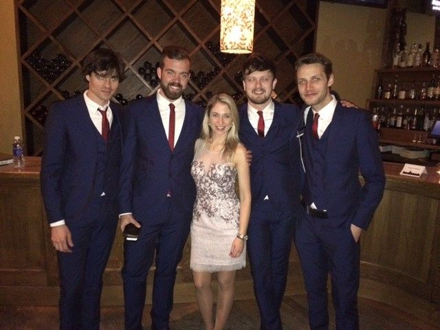 Bride with the band
