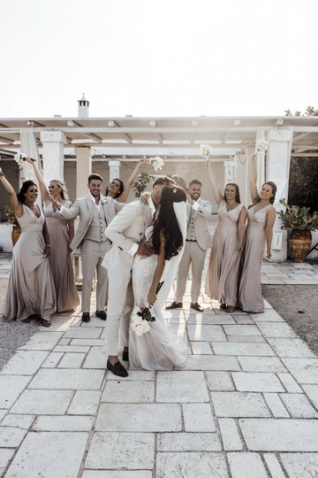 Bride and Groom in Masseria