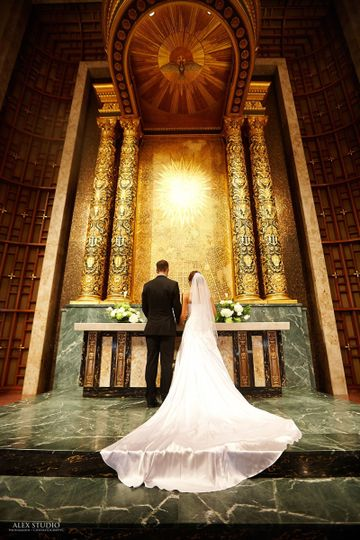 Before the altar