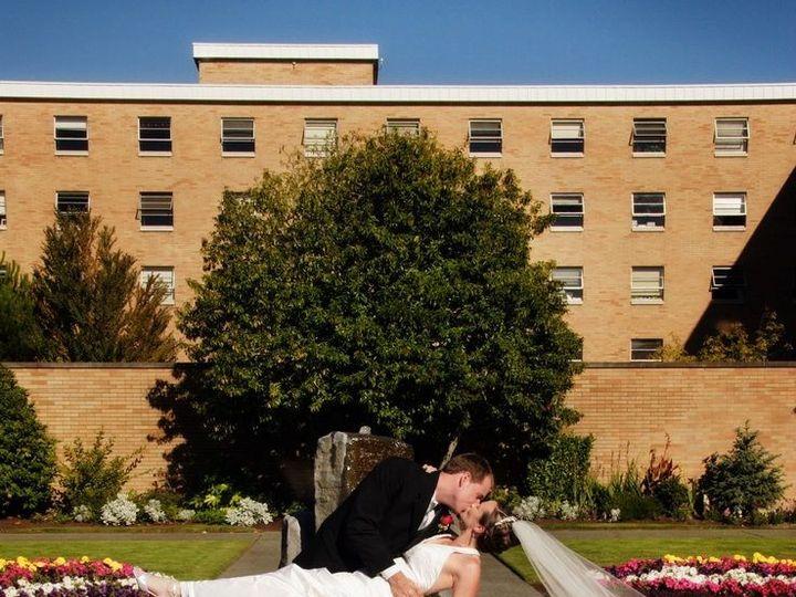 Tmx 1403021710130 Courtyard With Bridal Couple Kissing Wo Watermark Kenmore, Washington wedding venue
