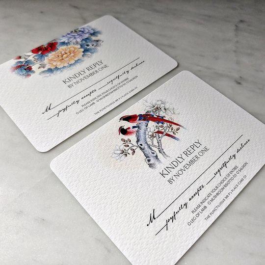 Mr. P's: RSVP cards