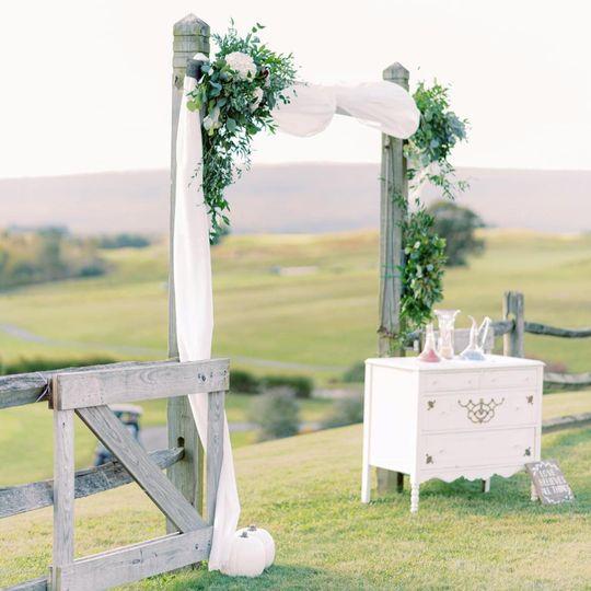 Our beautiful wedding dresser