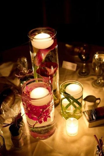 Candle-lit centerpiece