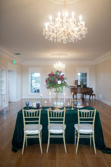 Hunter Green Velvet Tablecloth