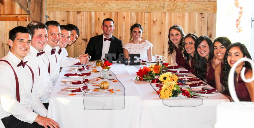 Wedding Party at the reception