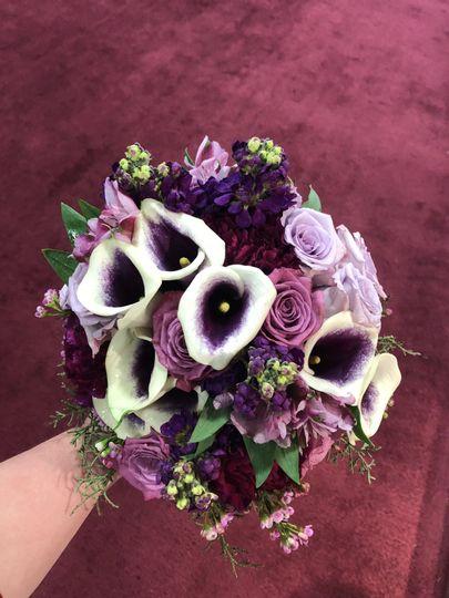 Purple tone bouquet