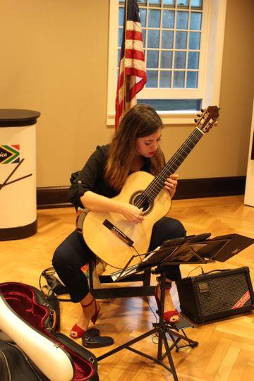 A beautiful guitarist!