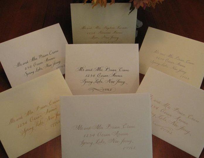 Variety of lettering styles on Crane envelopes