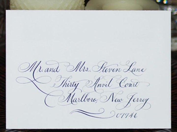 Tmx 1352816781107 Flourishesgaloreenvelopephoto Belmar, NJ wedding invitation