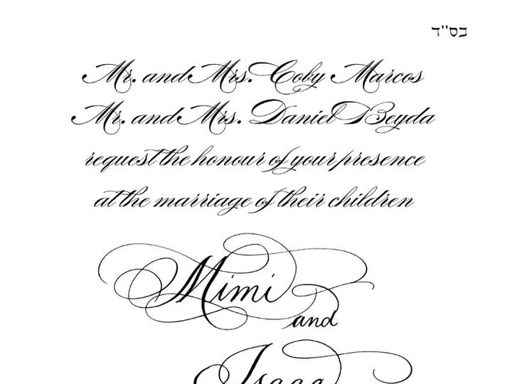 Tmx 1357099340153 NamesbyATouchofInkMimiandIsaac Belmar, NJ wedding invitation