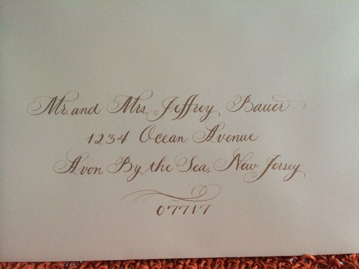 Tmx 1472668943862 Gold With Flouishes 3 August 14 Belmar, NJ wedding invitation