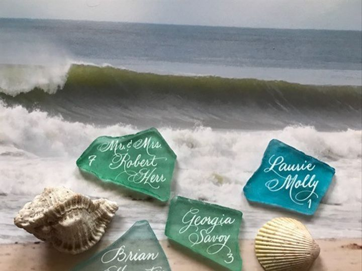 Tmx 1479500147945 Calligraphy On Sea Beach  Glass Belmar, NJ wedding invitation