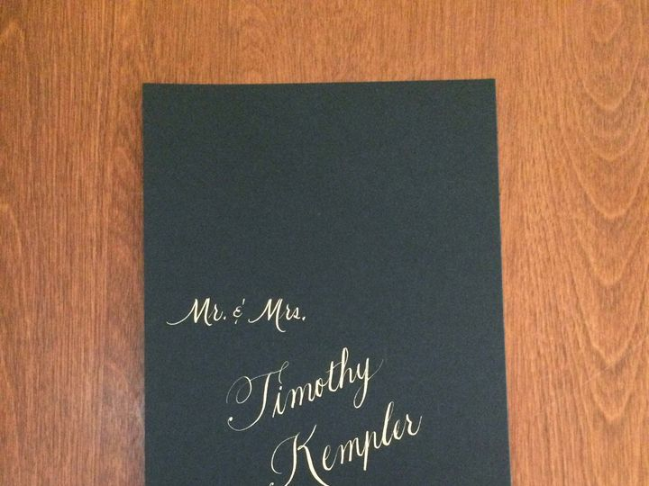 Tmx 1504220711416 Gold On Black Vertical 1 Belmar, NJ wedding invitation