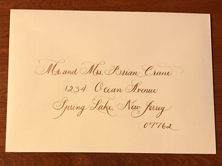 Tmx 1504220742134 Sample 2 Copper Ink On Ecru Envelope Belmar, NJ wedding invitation
