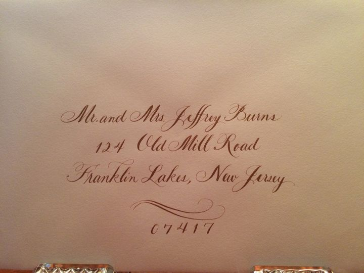 Tmx 1504220754001 Sample 3 Gold Ink On Ecru Envelope Belmar, NJ wedding invitation
