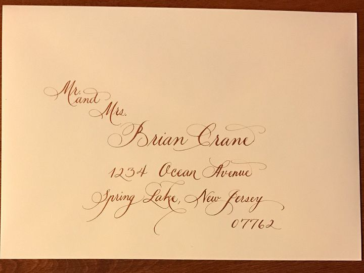 Tmx 1504220774567 Sample 5 Copper Ink On Ecru Envelope Belmar, NJ wedding invitation